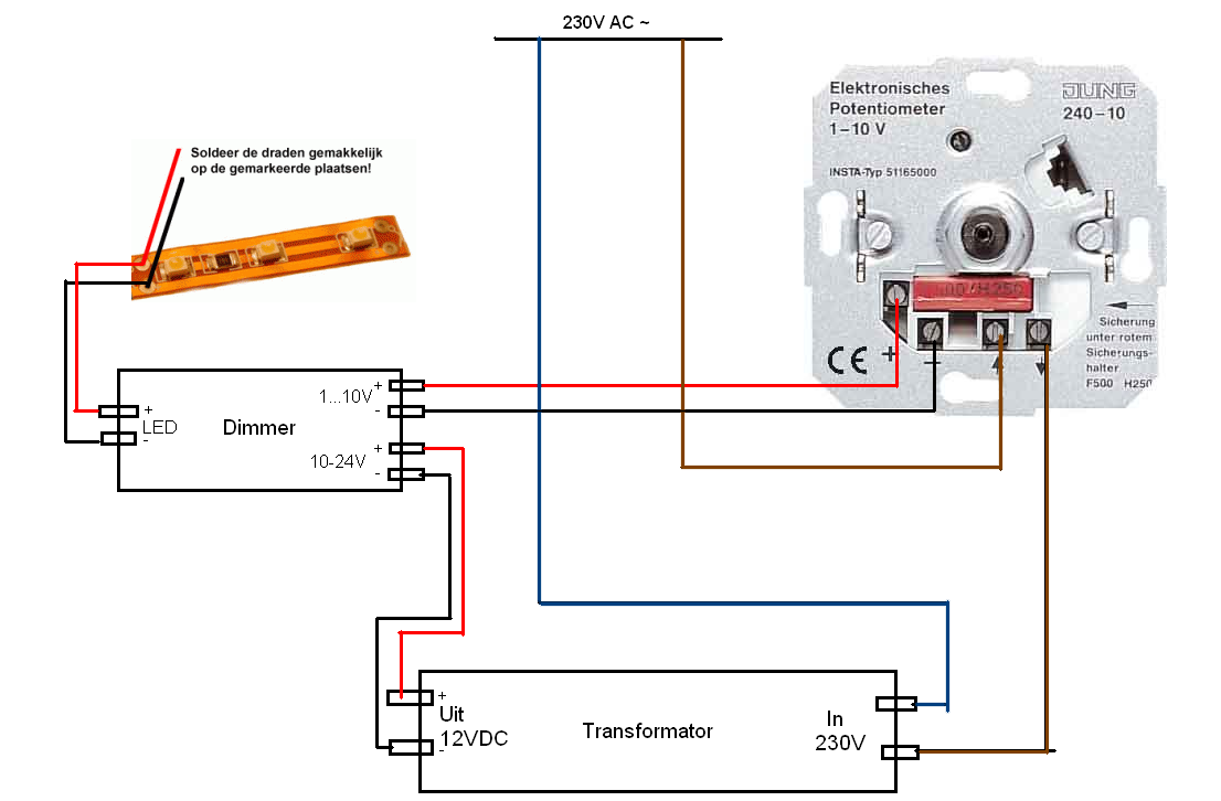 12v Wiring Diagram : Volt potentiometer wiring diagram system